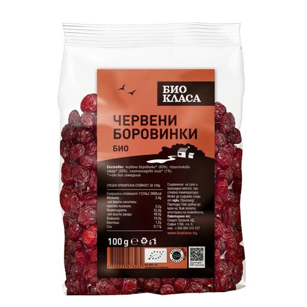 Червени боровинки подсладени 100 g